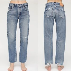 NWOT MOUSSY BLUE FRIANT STRAIGHT JEANS 24